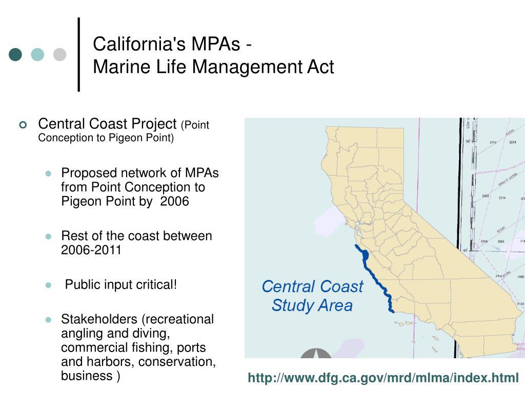 California's MPAs -