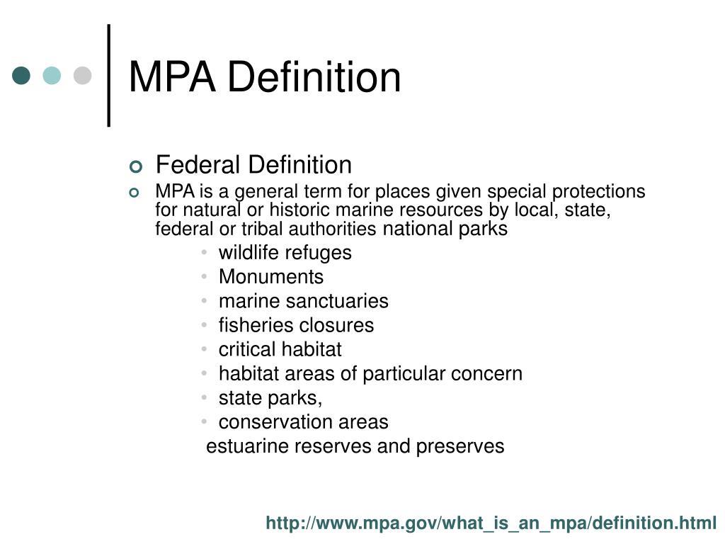 MPA Definition