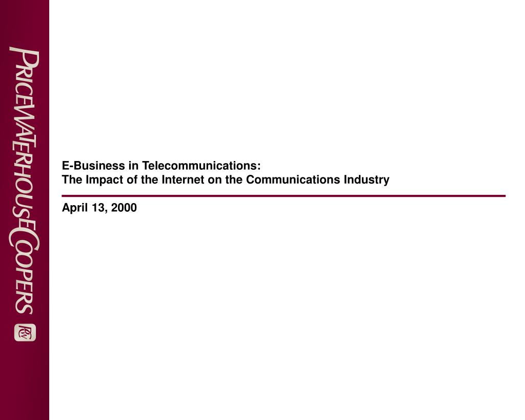 E-Business in Telecommunications:
