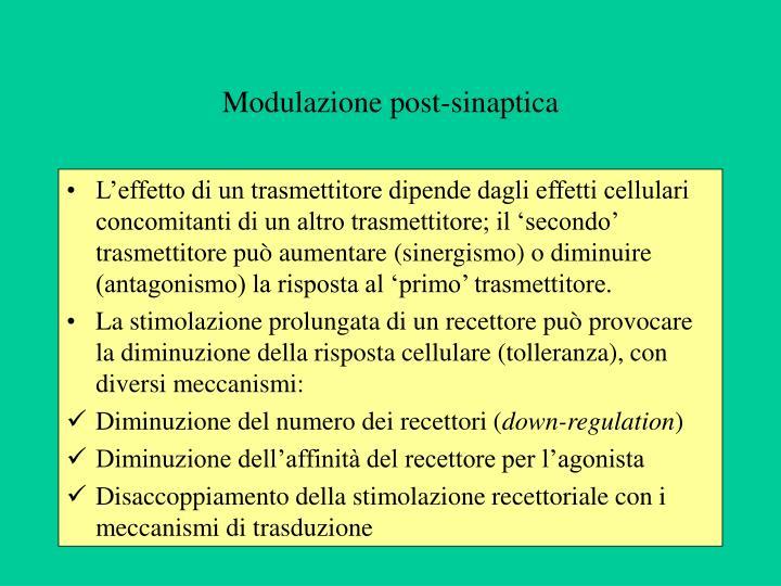 Modulazione post-sinaptica