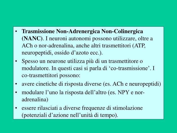Trasmissione Non-Adrenergica Non-Colinergica (NANC)