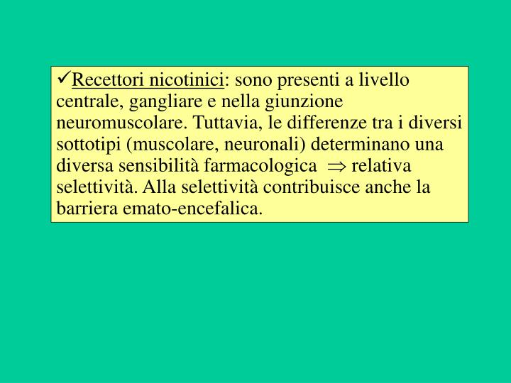 Recettori nicotinici