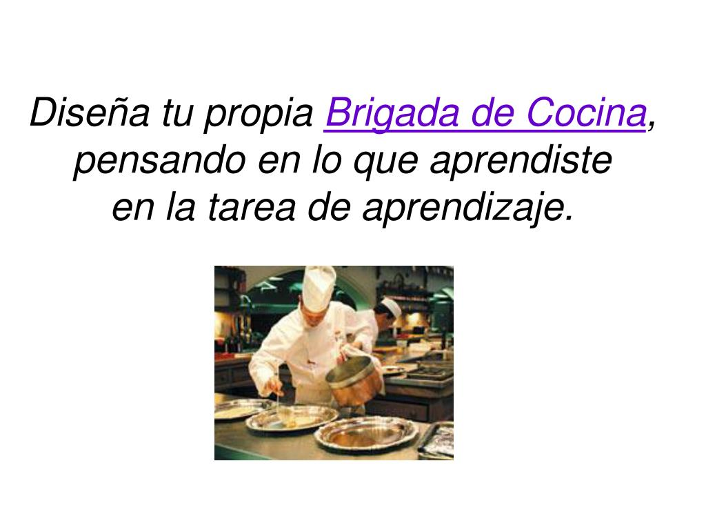 Ppt clasificaci n de las brigadas de cocina powerpoint for Disena tu cocina gratis