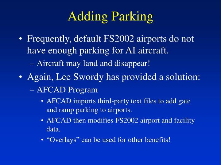 Adding Parking