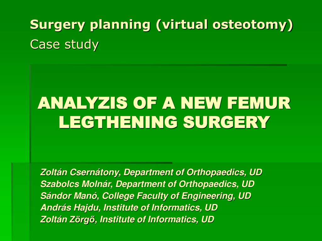 Surgery planning (virtual osteotomy)