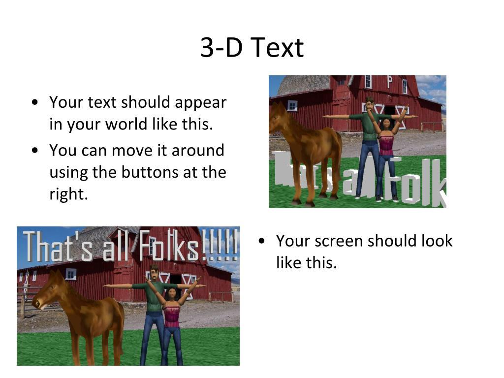 3-D Text