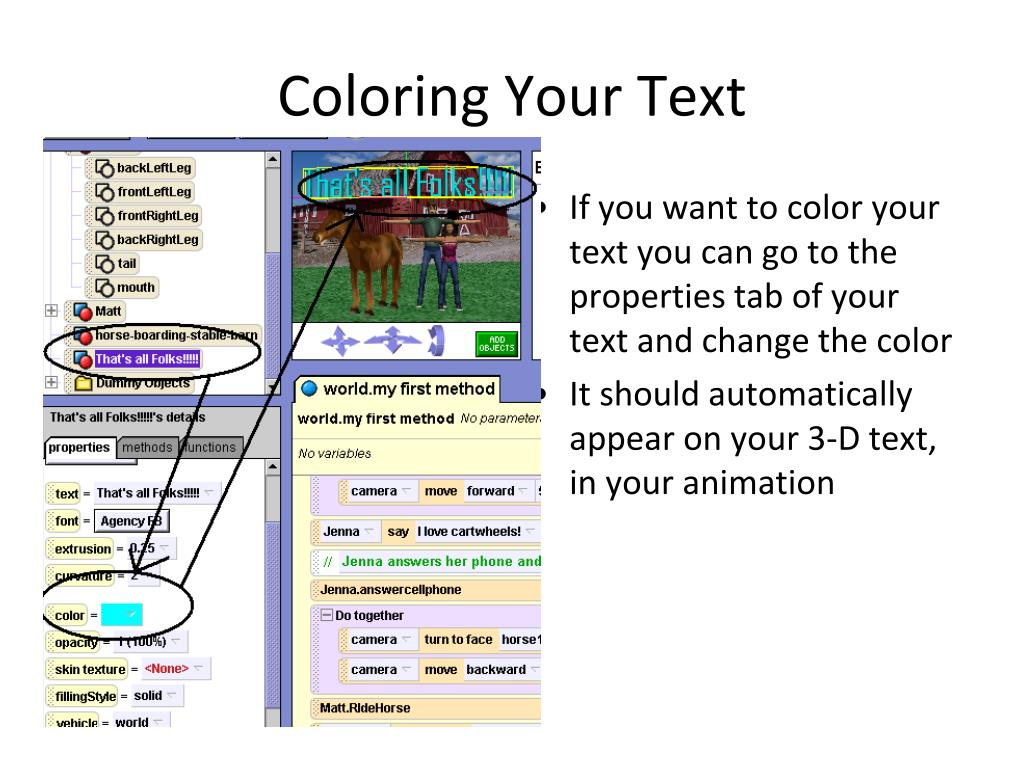 Coloring Your Text