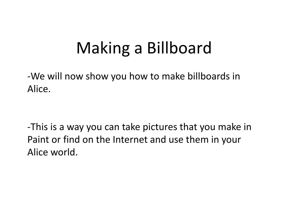 Making a Billboard