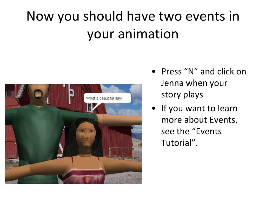 Now you should have two events in your animation