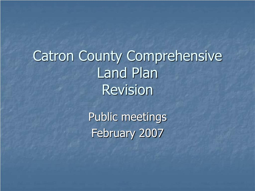 Catron County Comprehensive Land Plan