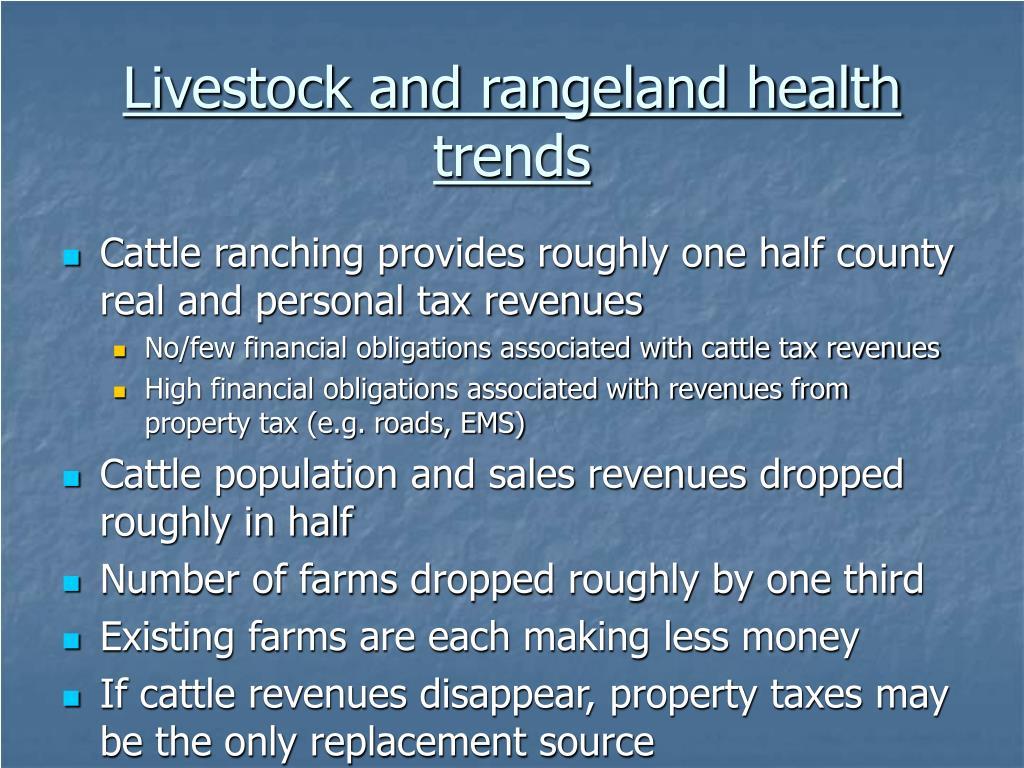Livestock and rangeland health trends