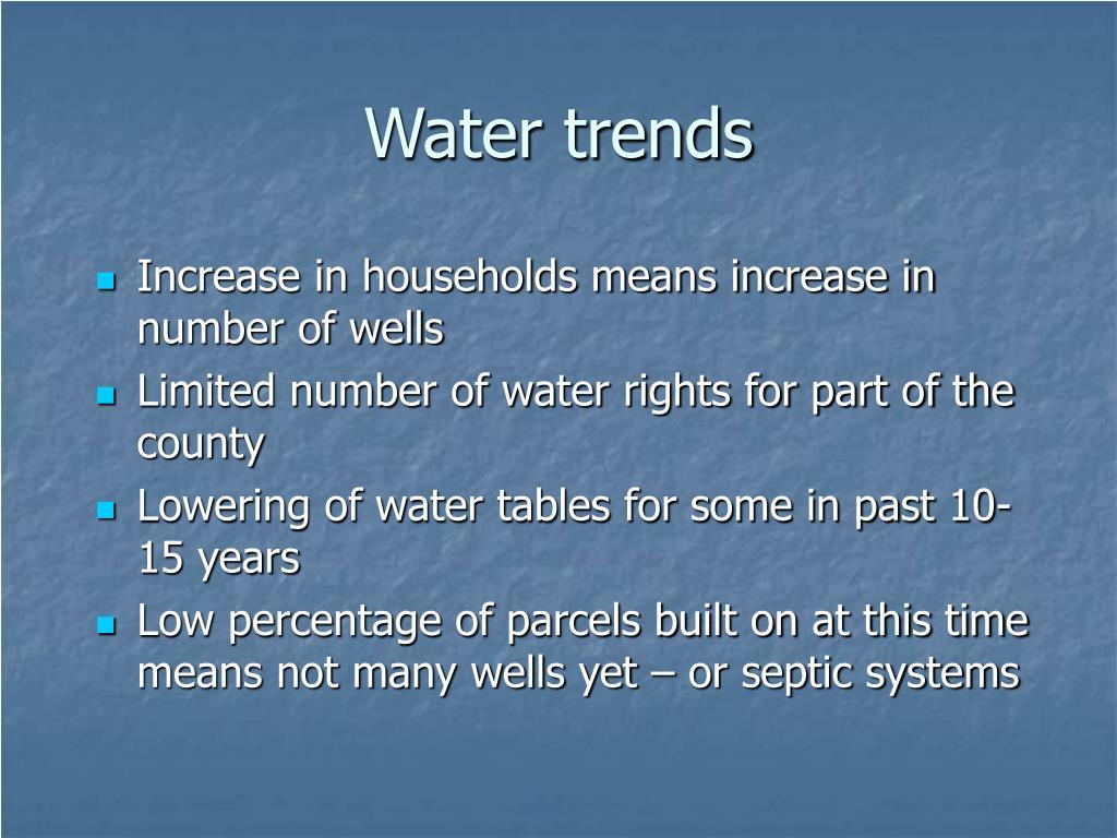 Water trends