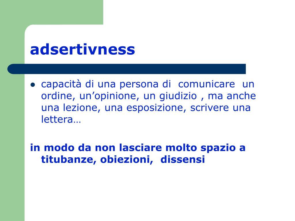 adsertivness