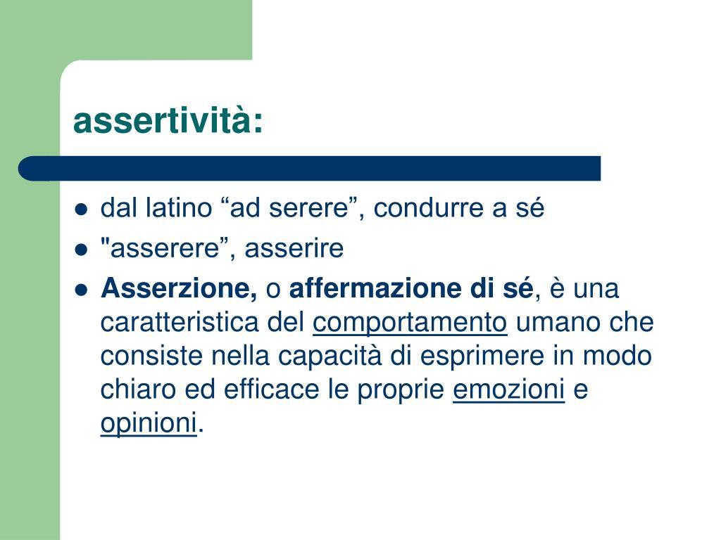 assertività: