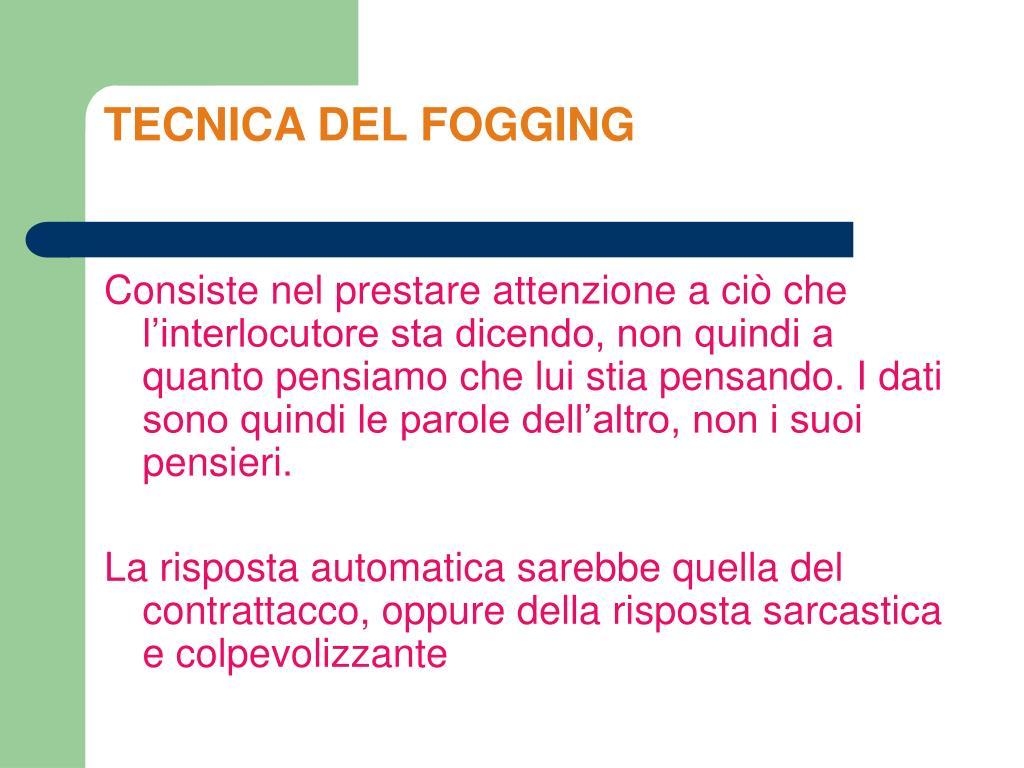 TECNICA DEL FOGGING