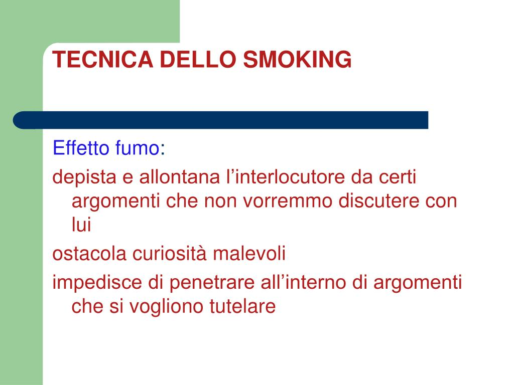 TECNICA DELLO SMOKING