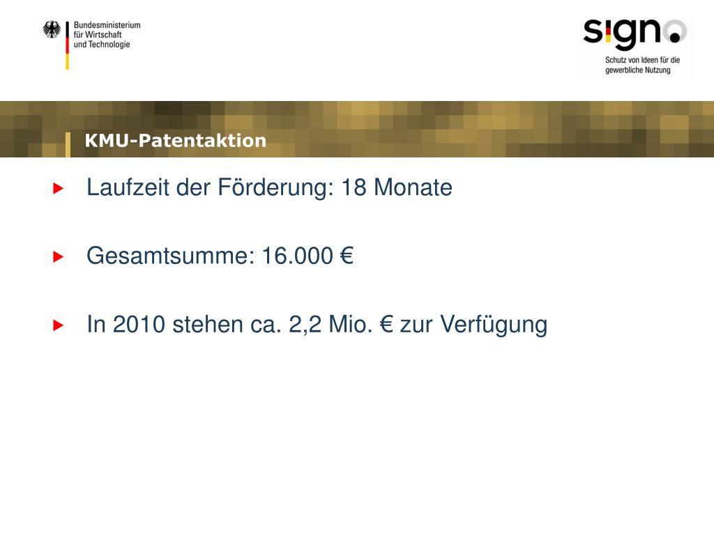 KMU-Patentaktion