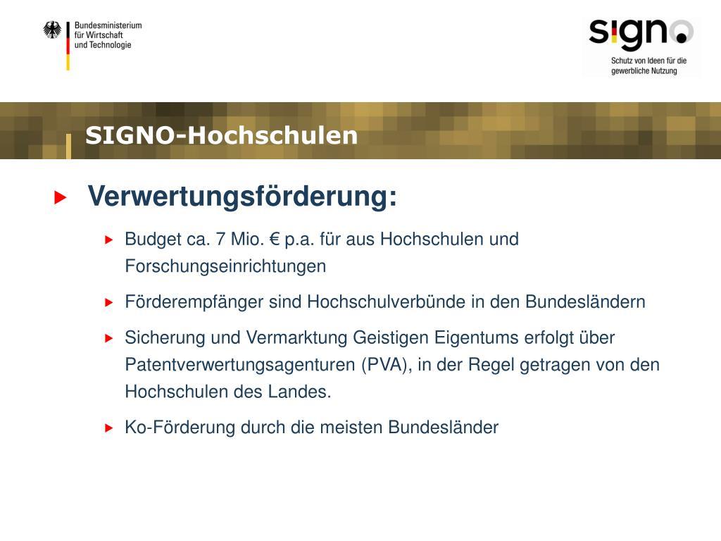 SIGNO-Hochschulen