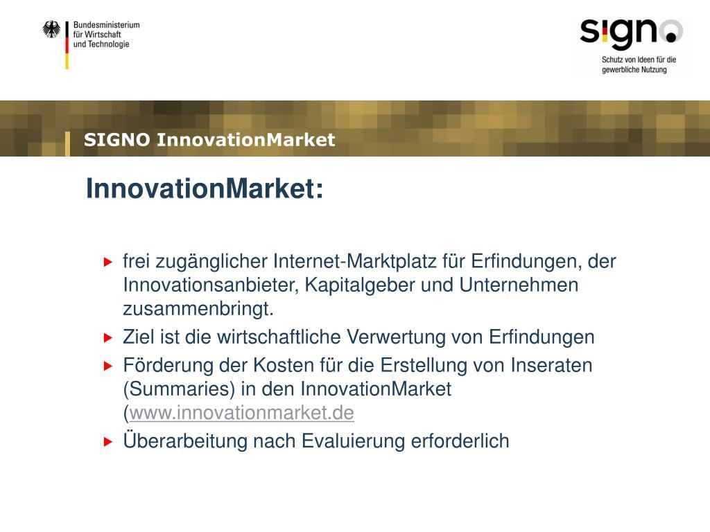 SIGNO InnovationMarket