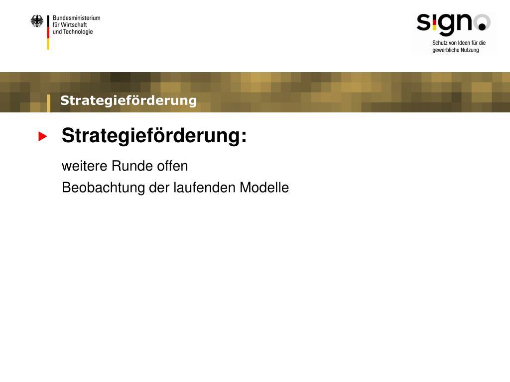 Strategieförderung