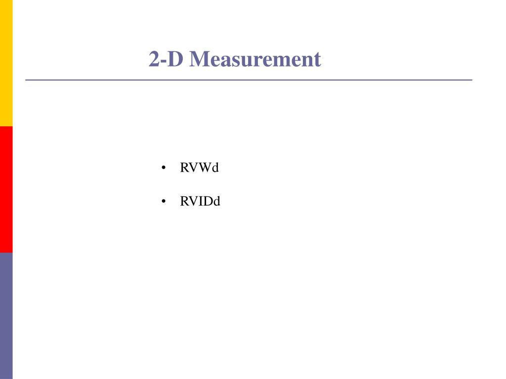 2-D Measurement