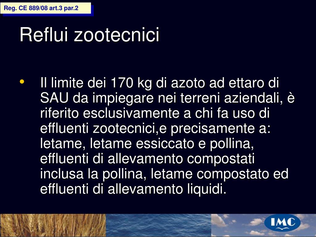 Reg. CE 889/08 art.3 par.2