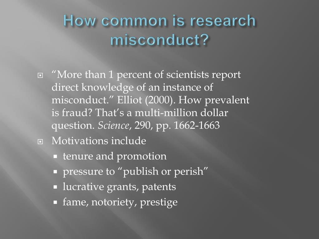 How common is research misconduct?