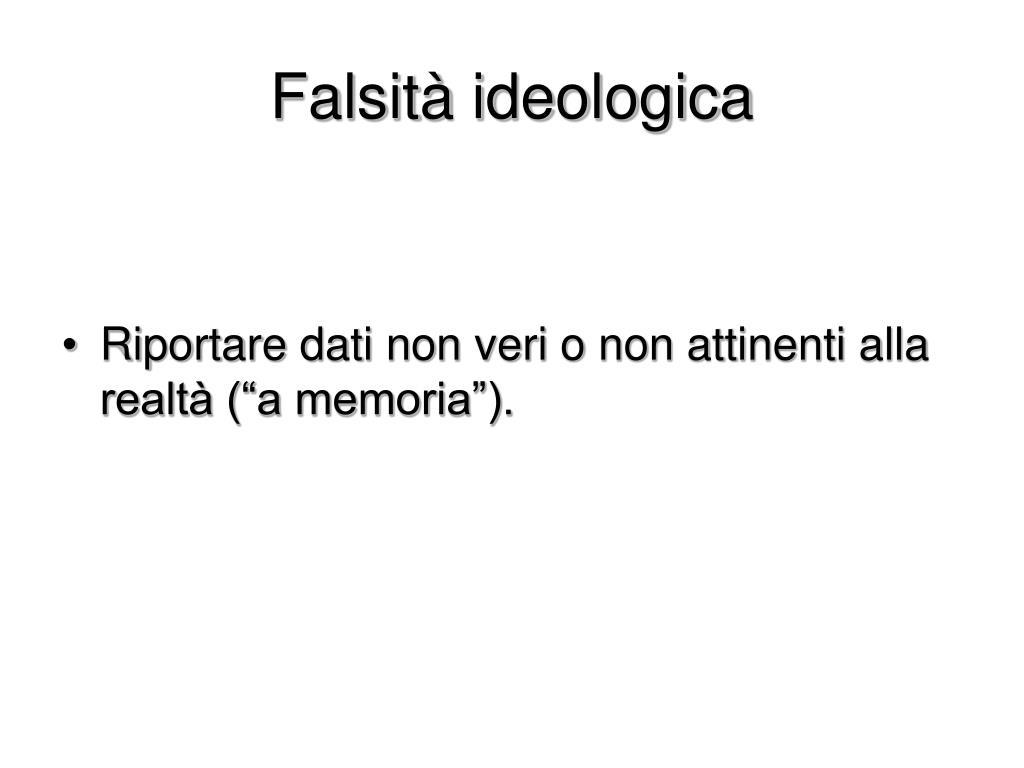 Falsità ideologica