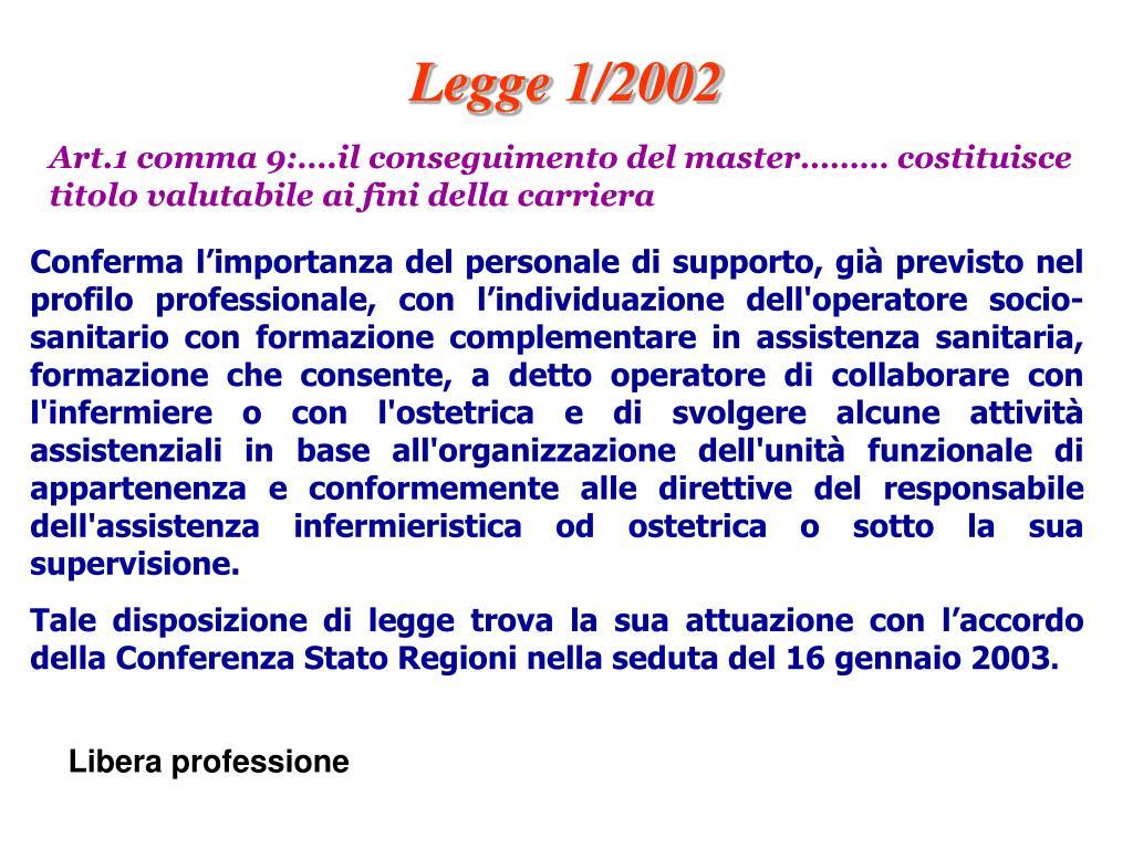 Legge 1/2002