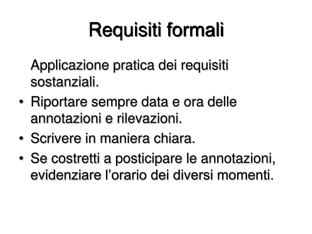Requisiti formali