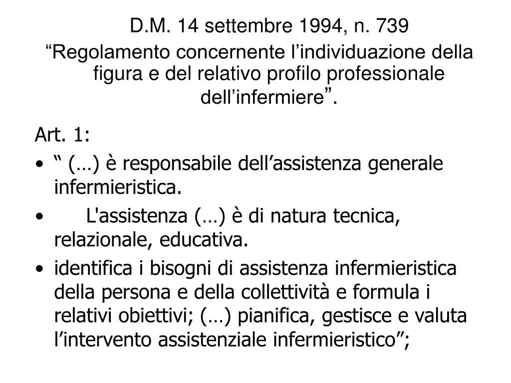 D.M. 14 settembre 1994, n. 739
