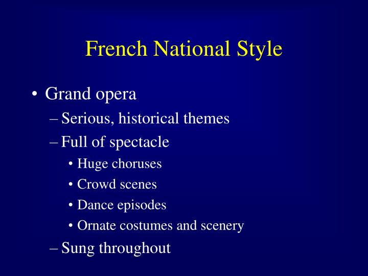 French national style