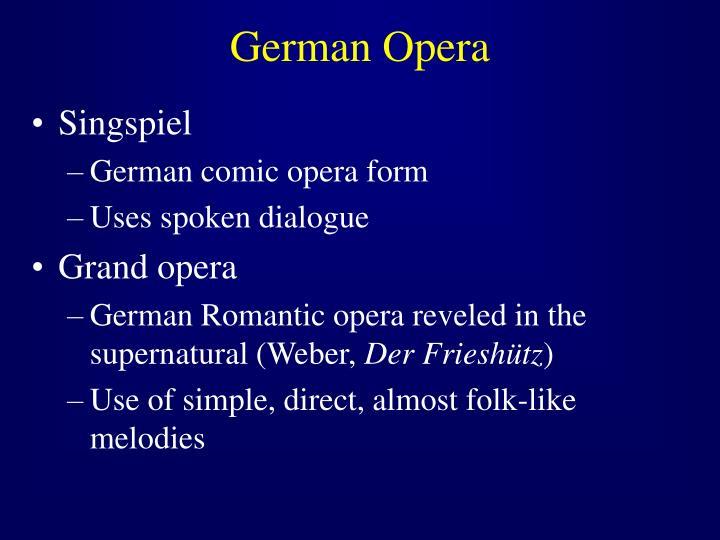 German Opera