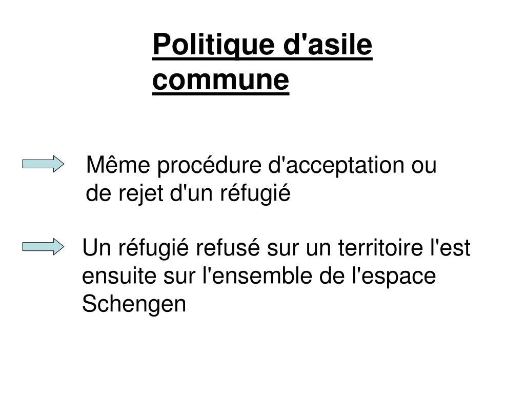Politique d'asile commune