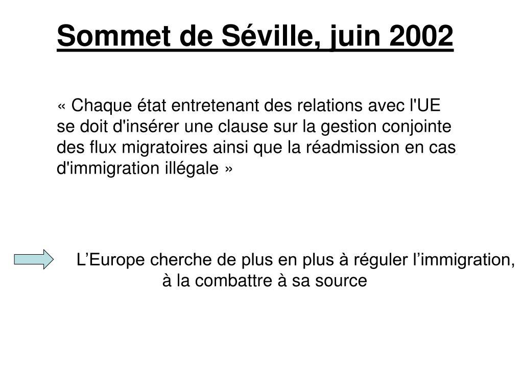 Sommet de Séville, juin 2002