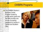 owbrn programs