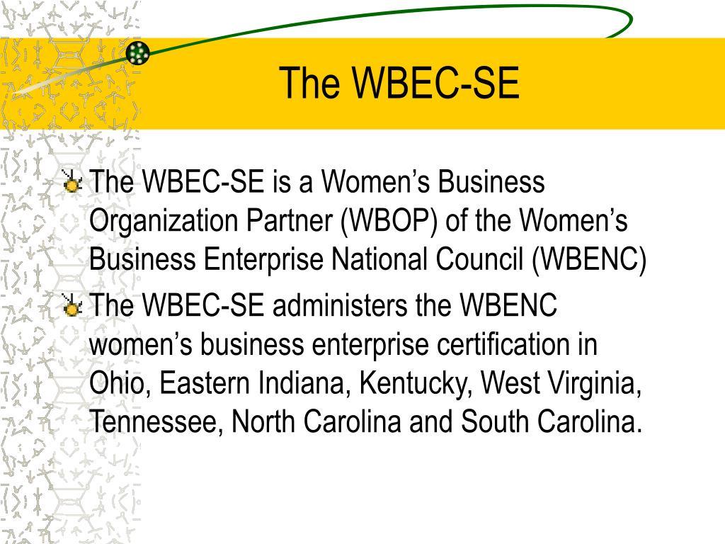 The WBEC-SE