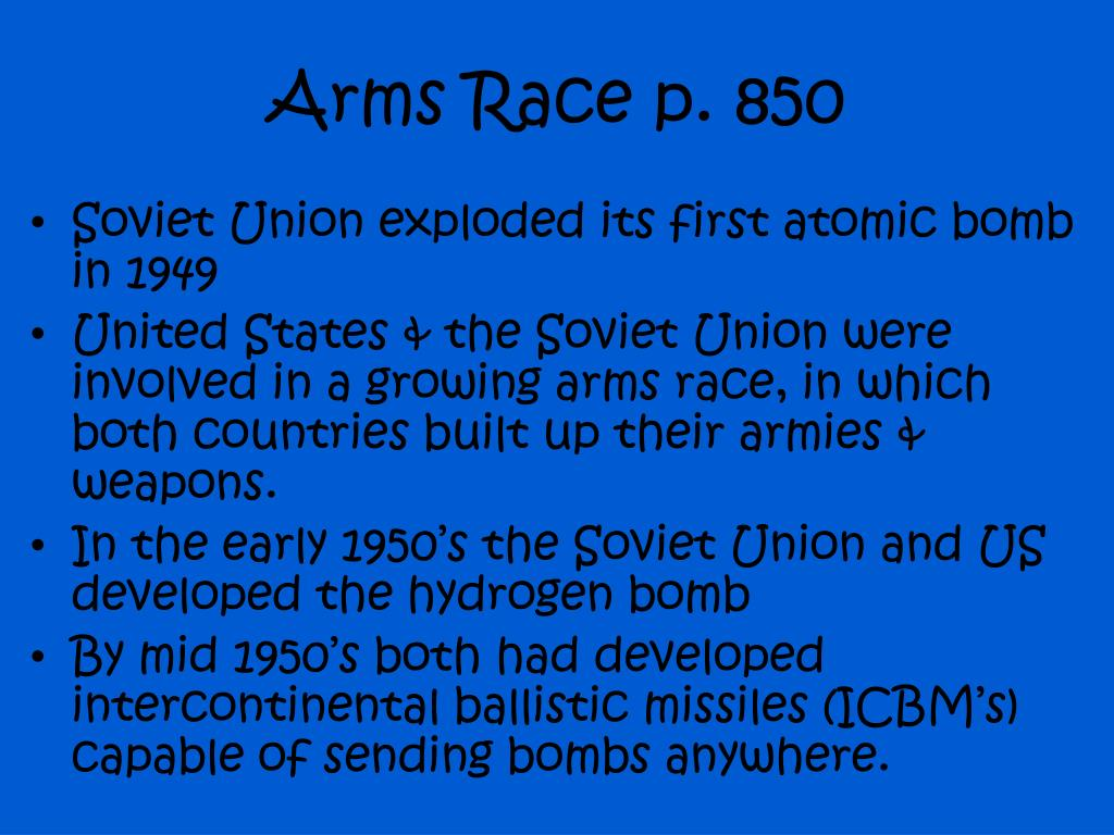Arms Race p. 850