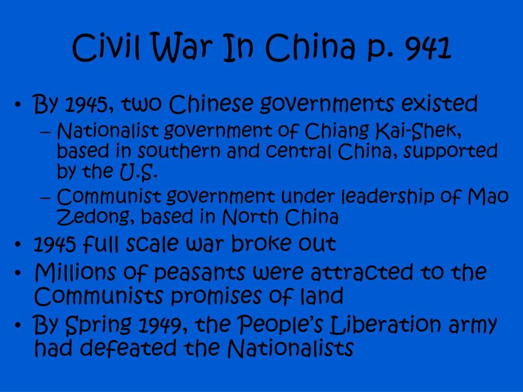 Civil War In China p. 941