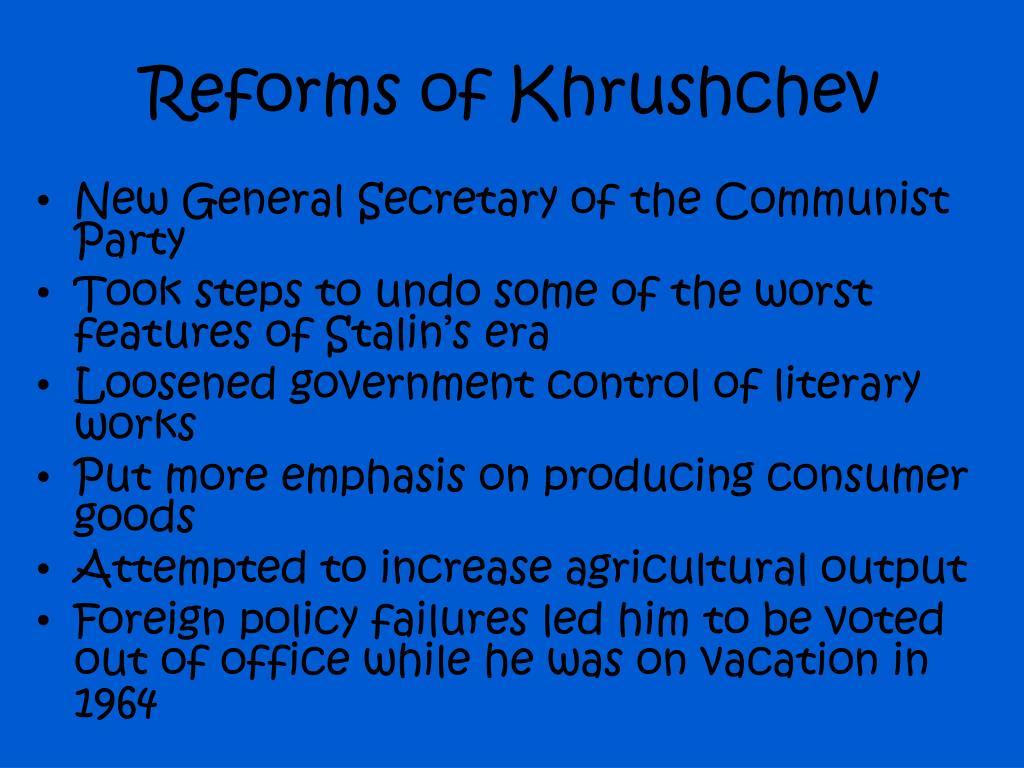 Reforms of Khrushchev