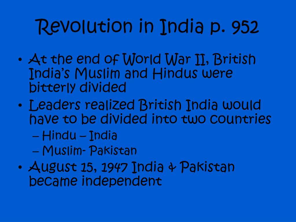 Revolution in India p. 952