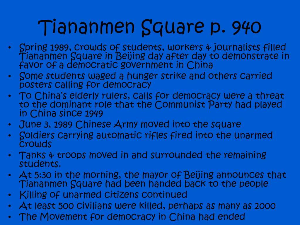 Tiananmen Square p. 940