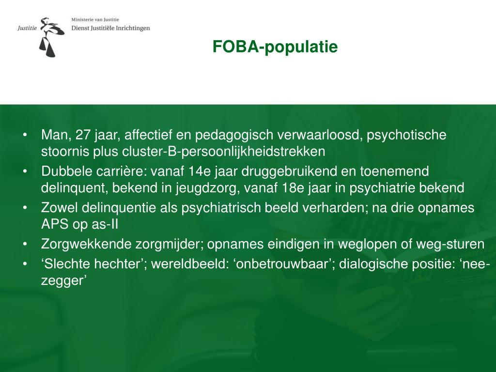 FOBA-populatie