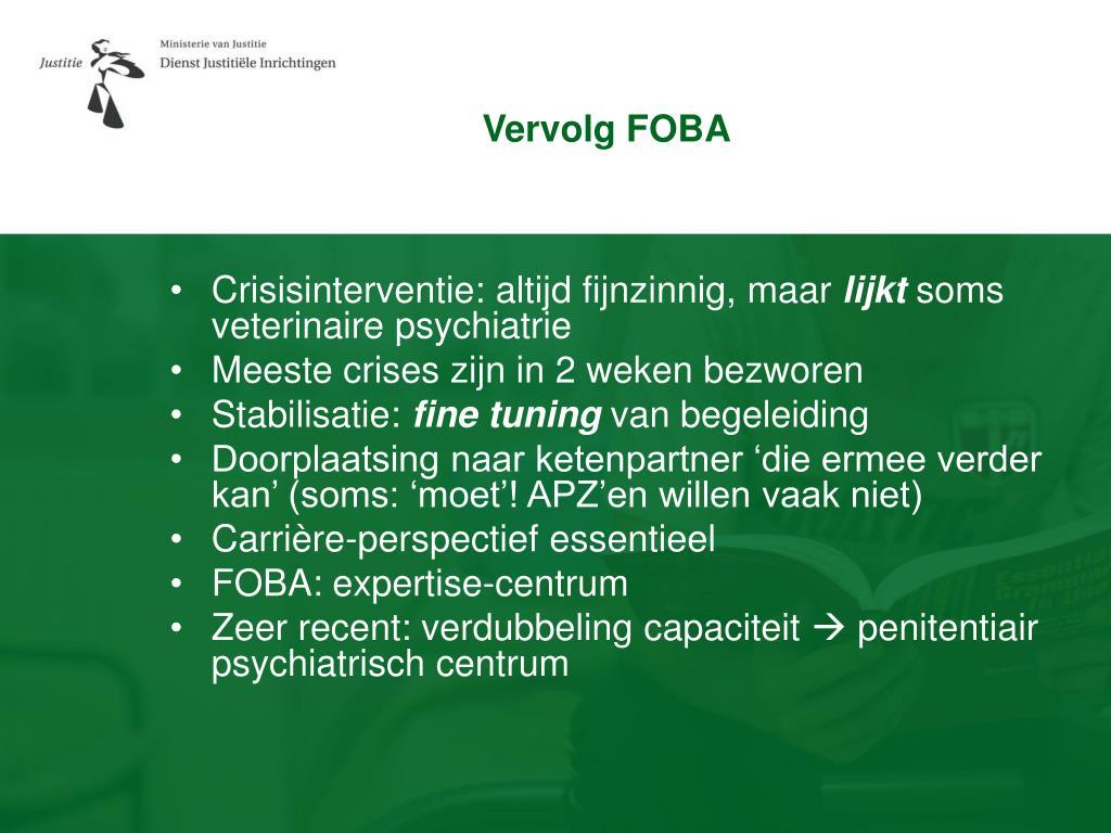 Vervolg FOBA