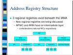 address registry structure