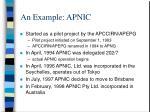 an example apnic