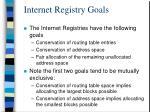 internet registry goals