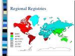 regional registries