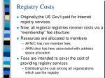 registry costs