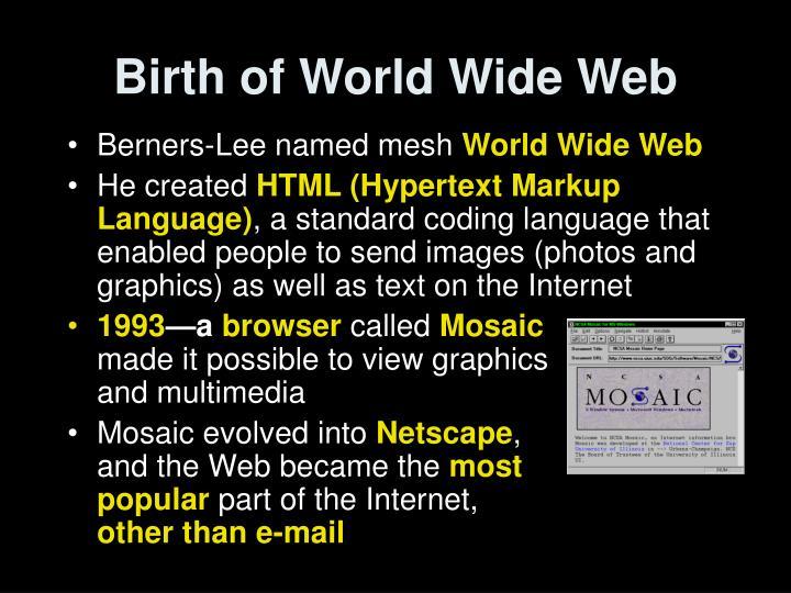 Birth of World Wide Web